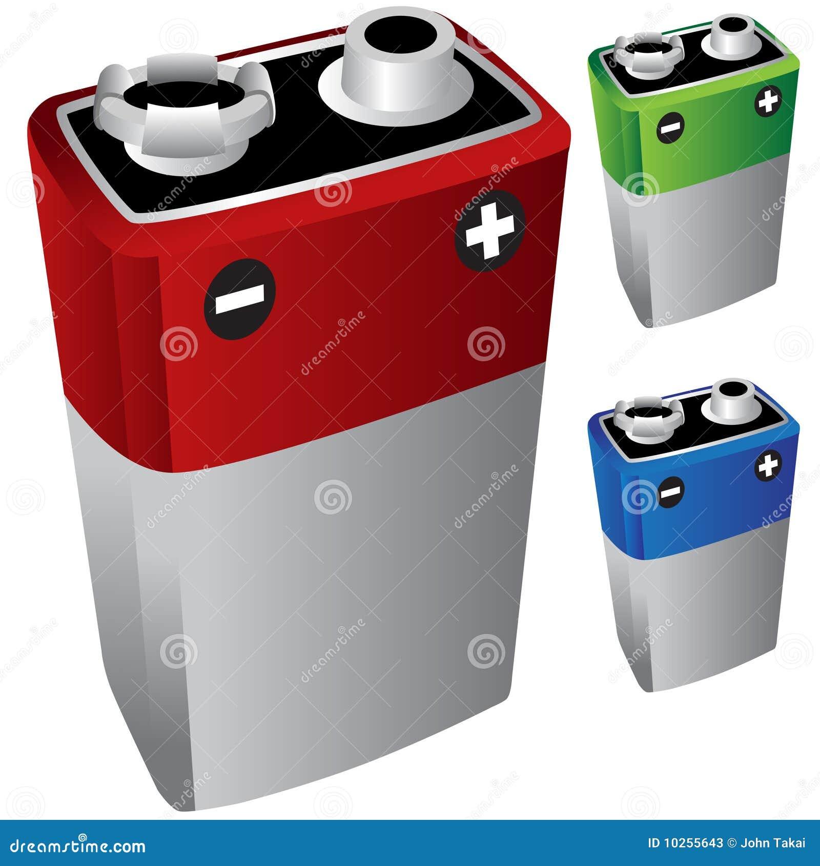 Batteria 9v illustrazione vettoriale illustrazione di for Porta batteria 9v