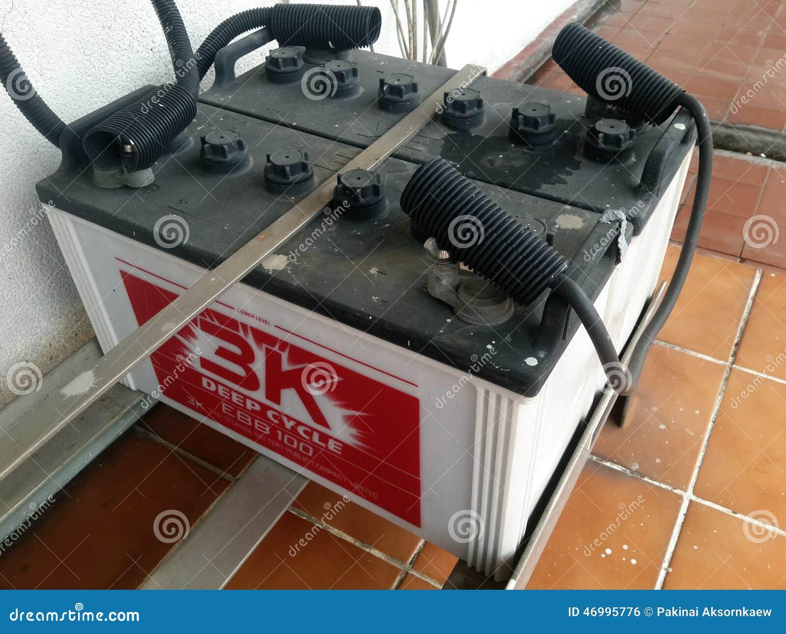 Batterie De Secours Pour Le Système D'alimentation Solaire Photo
