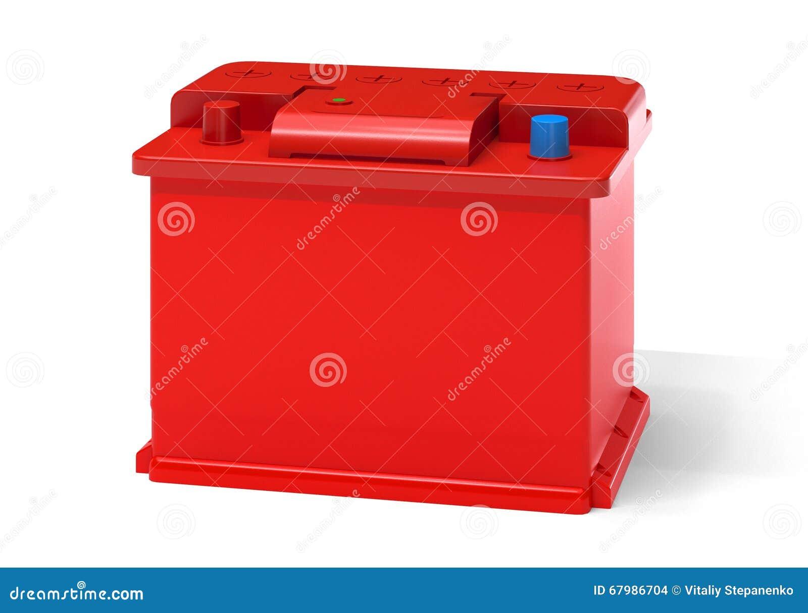 batterie voiture rouge