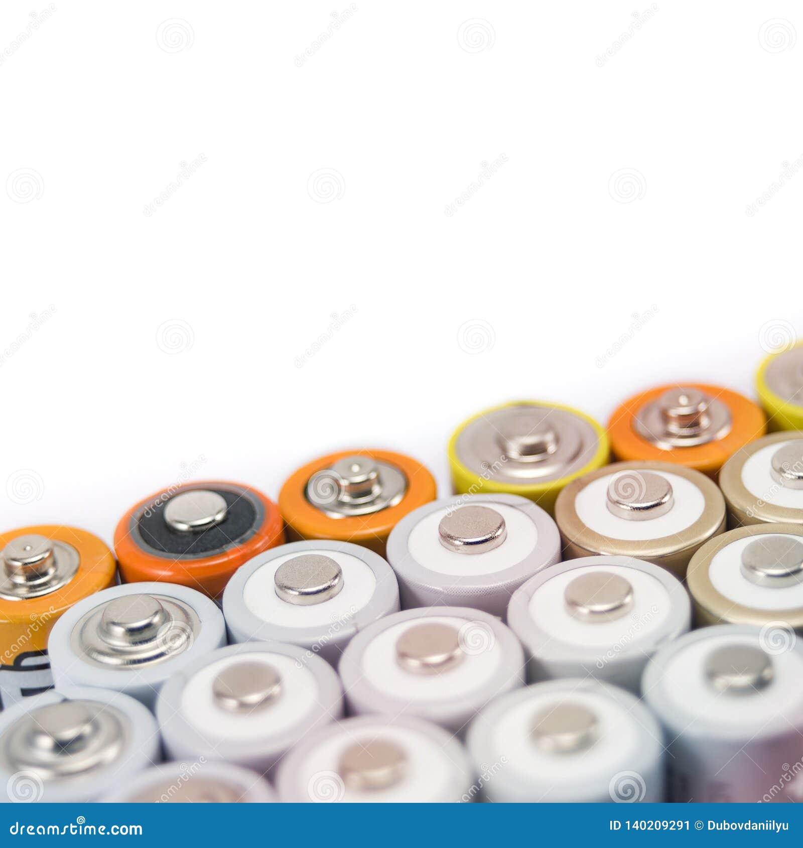 Batteries multi-colored metal