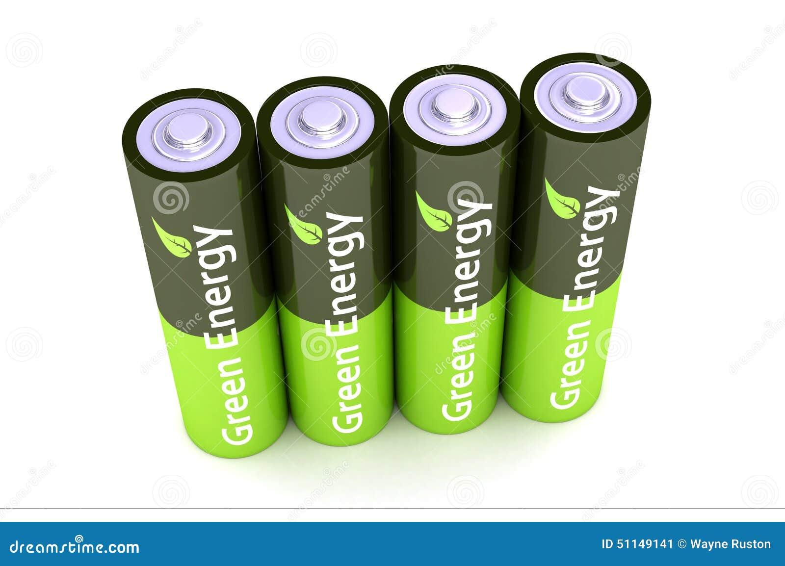 batteries vertes de puissance d 39 eco illustration stock image 51149141. Black Bedroom Furniture Sets. Home Design Ideas