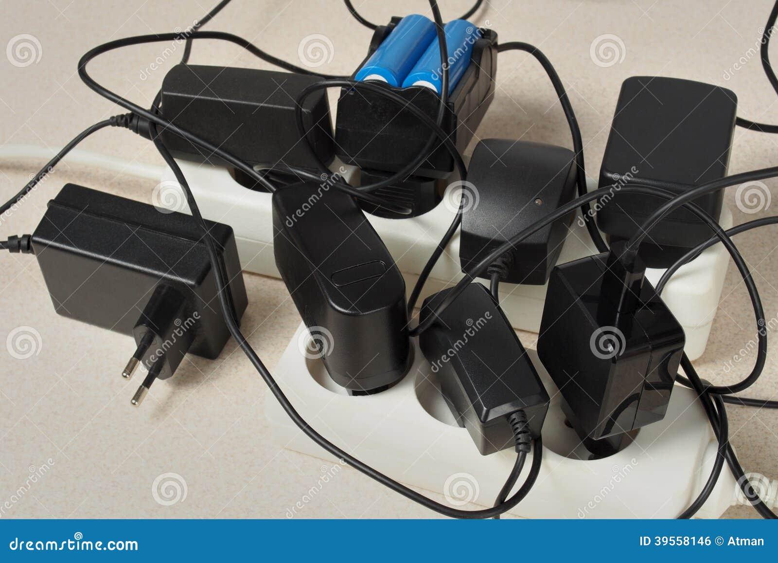 Batteriuppladdare och förlängningskabel