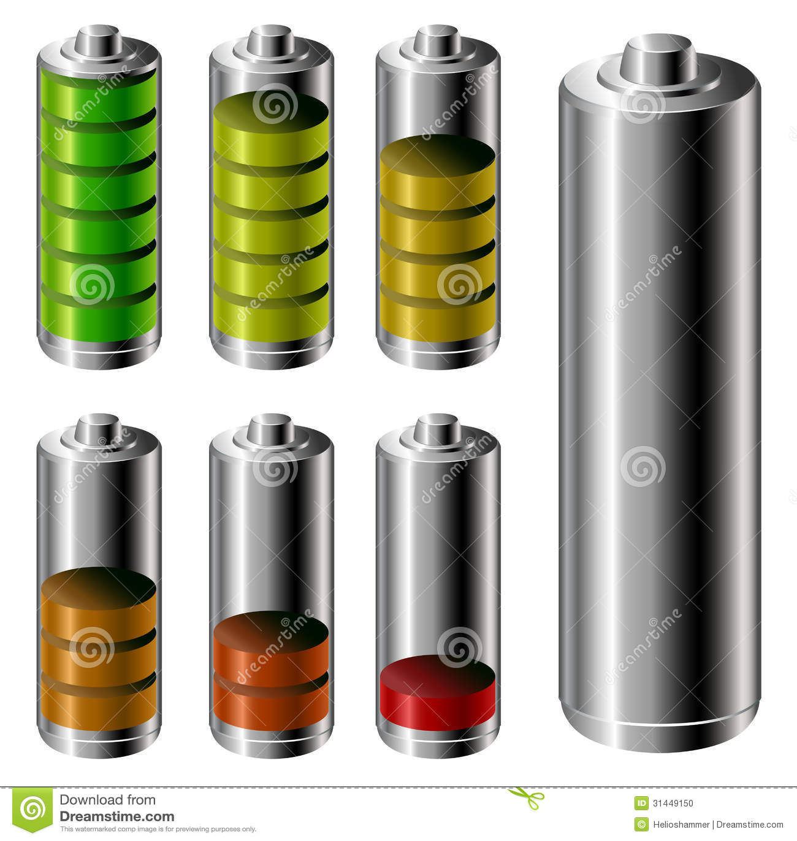 Windows 8 1 Set Battery Charge Level : Battery charge level set stock photo image