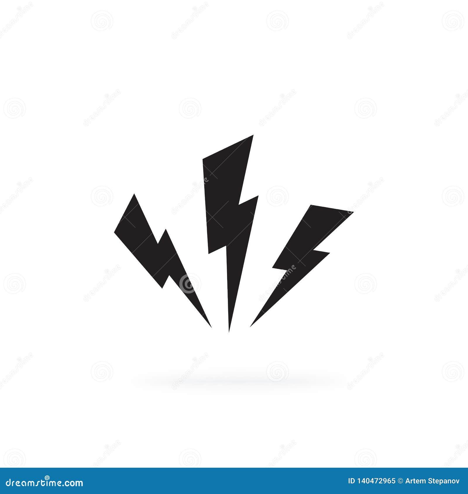 Battery Charger, Lightning Bolt Or Thunderbolt Symbol Stock Vector ...