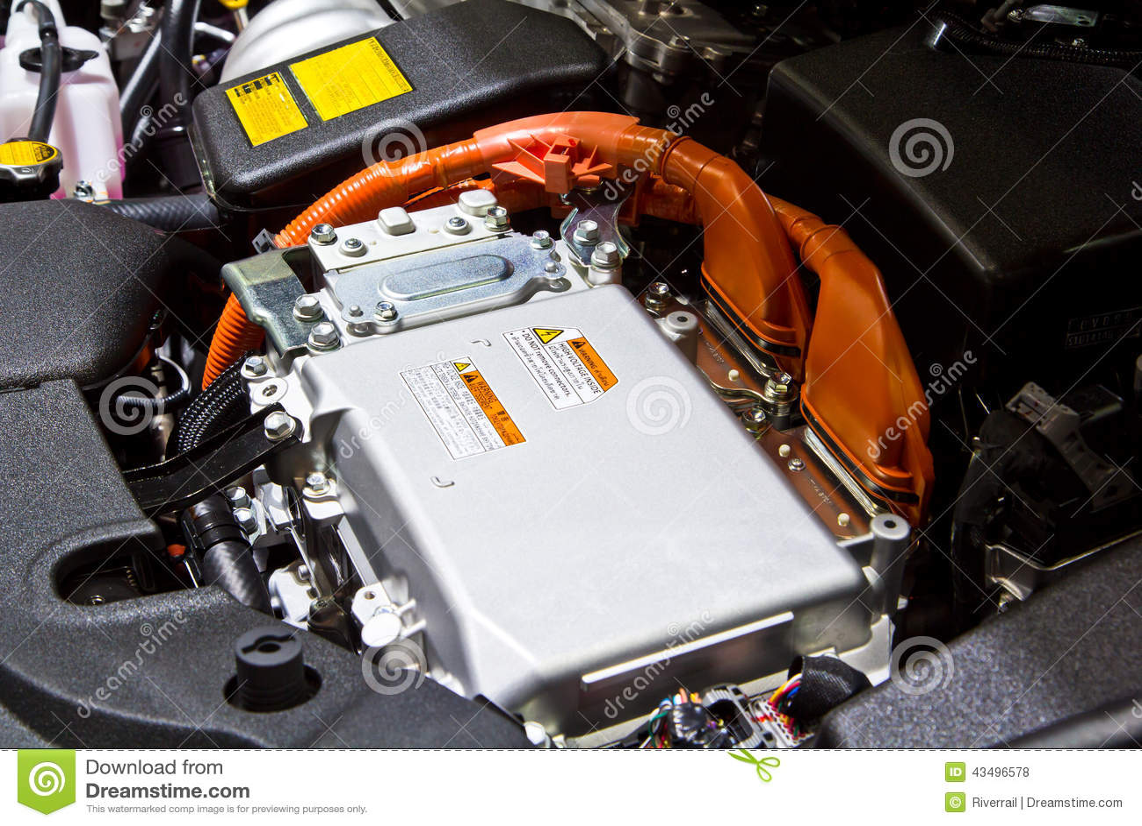 Battery And Hybrid Engine Stock Photo Image 43496578