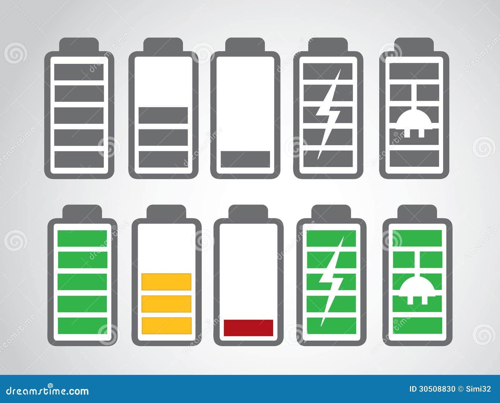 Windows 8 1 Set Battery Charge Level : Battery icon charge level stock photo image