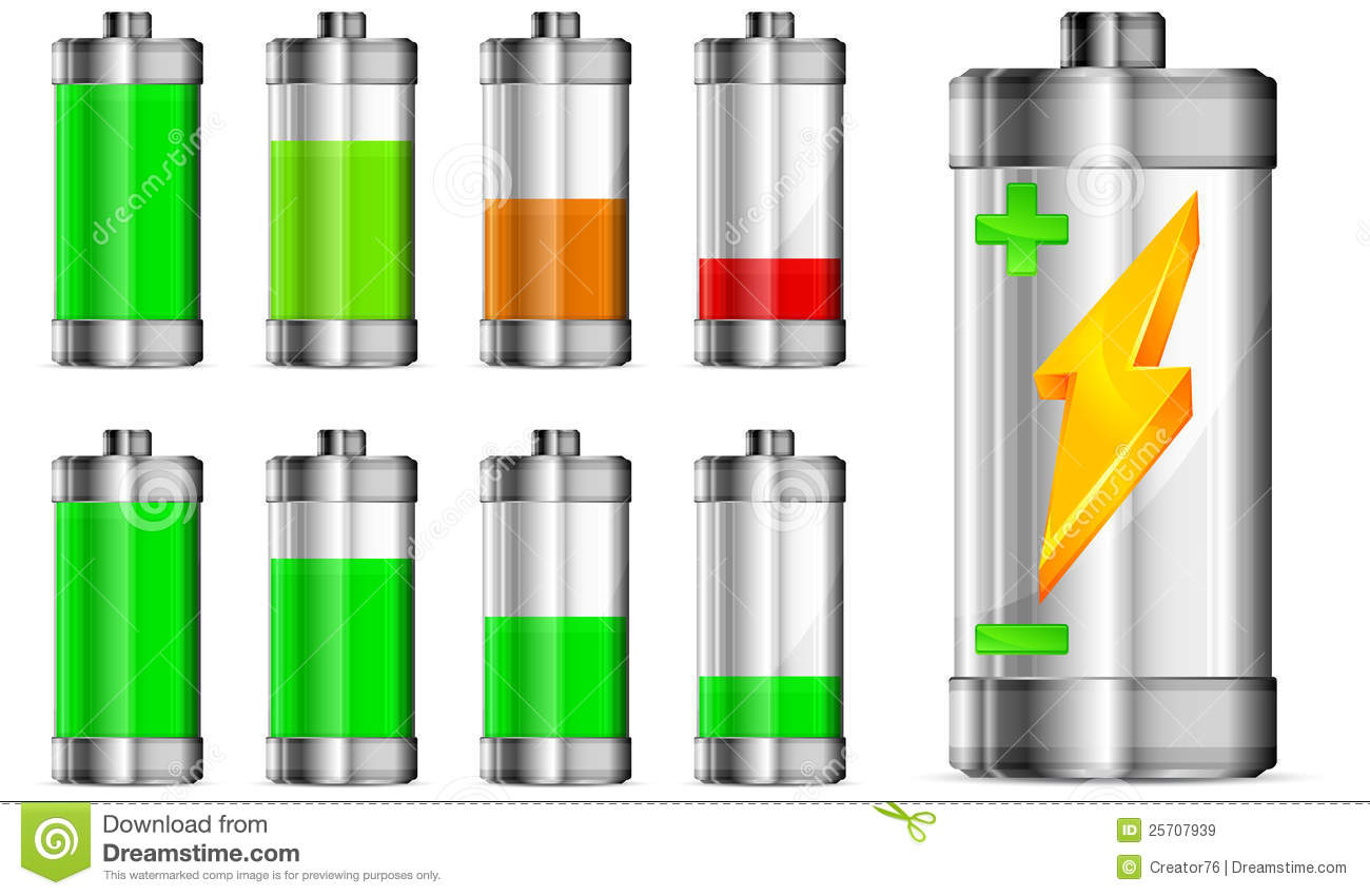 Battery With Level Indicator Royalty Free Stock Images - Image ...