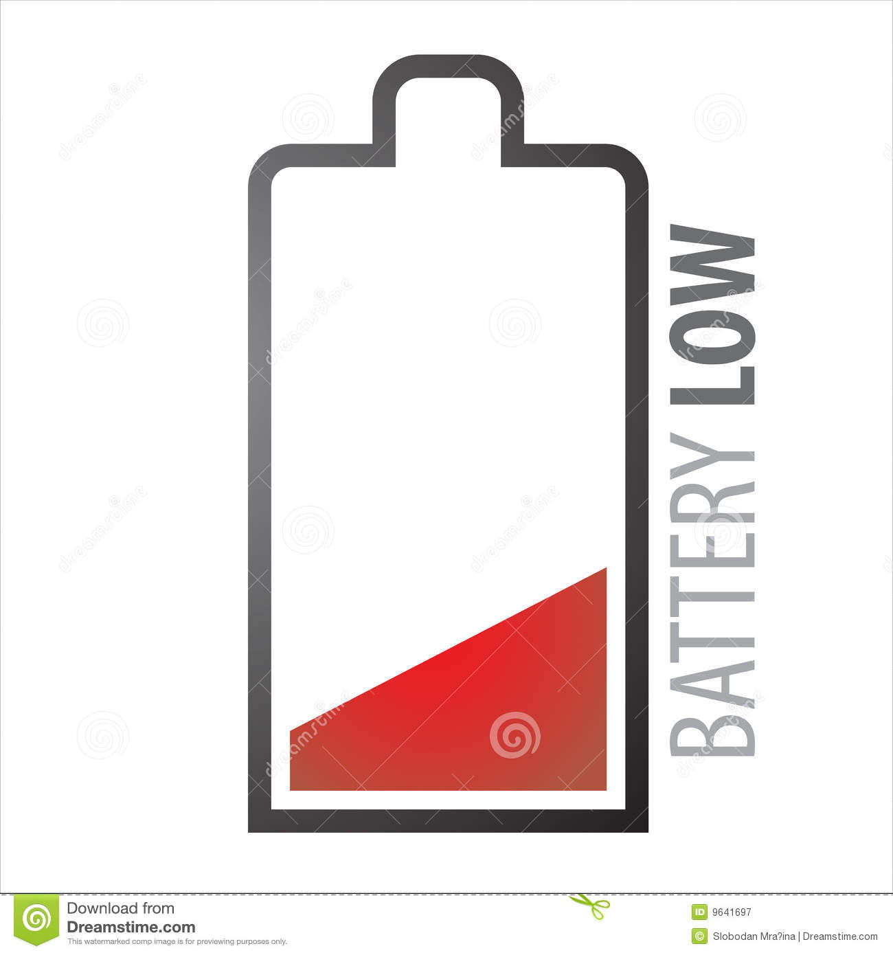 Battery Low Royalty Free Stock Photography Image 9641697