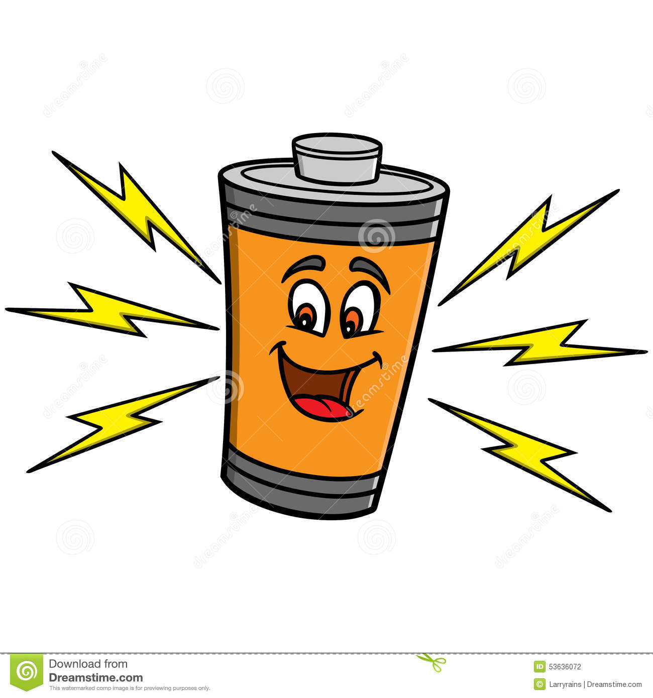 Battery Mascot Stock Vector - Image: 53636072