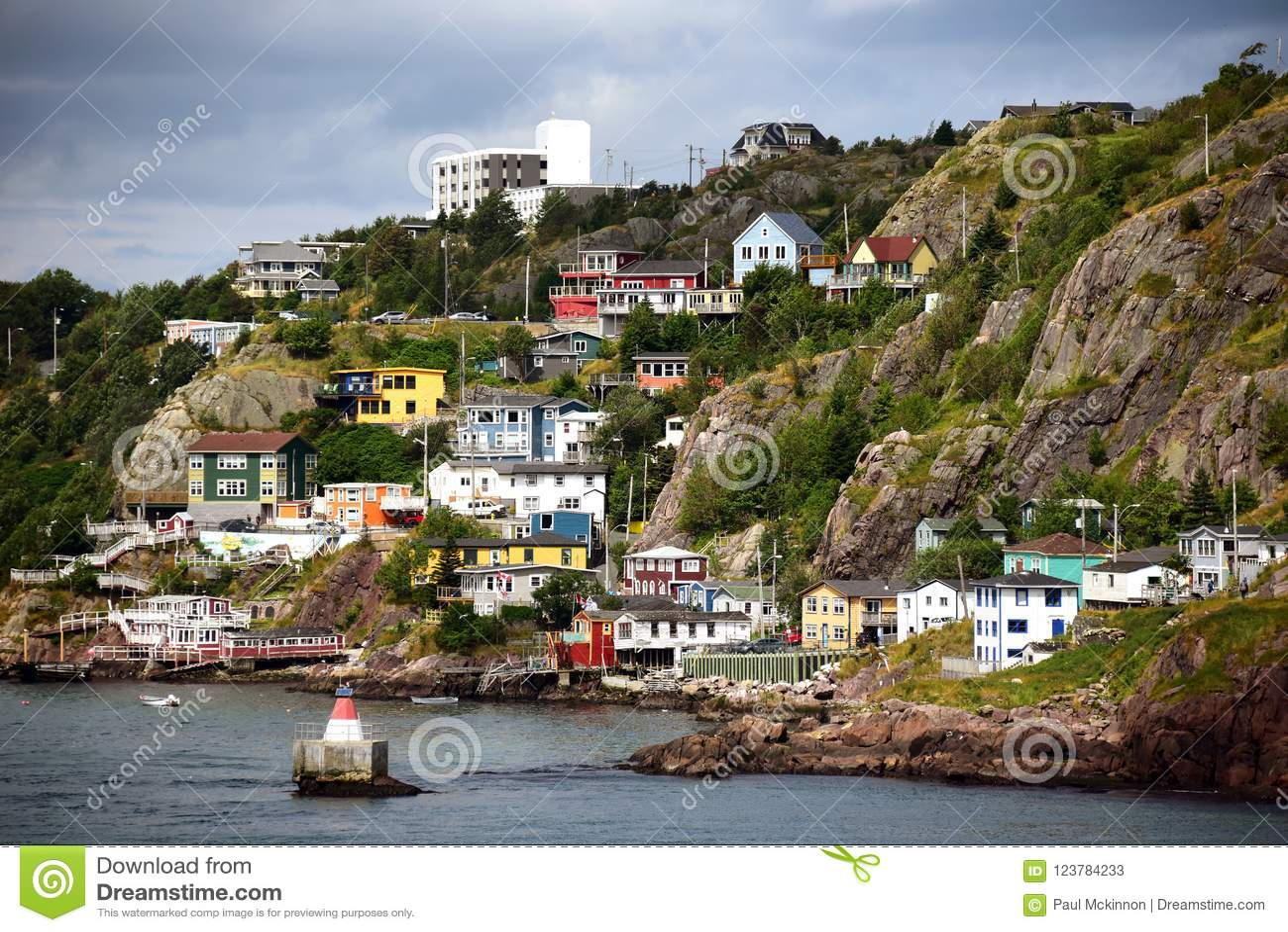 The Battery neighborhood in St. John's Newfoundland