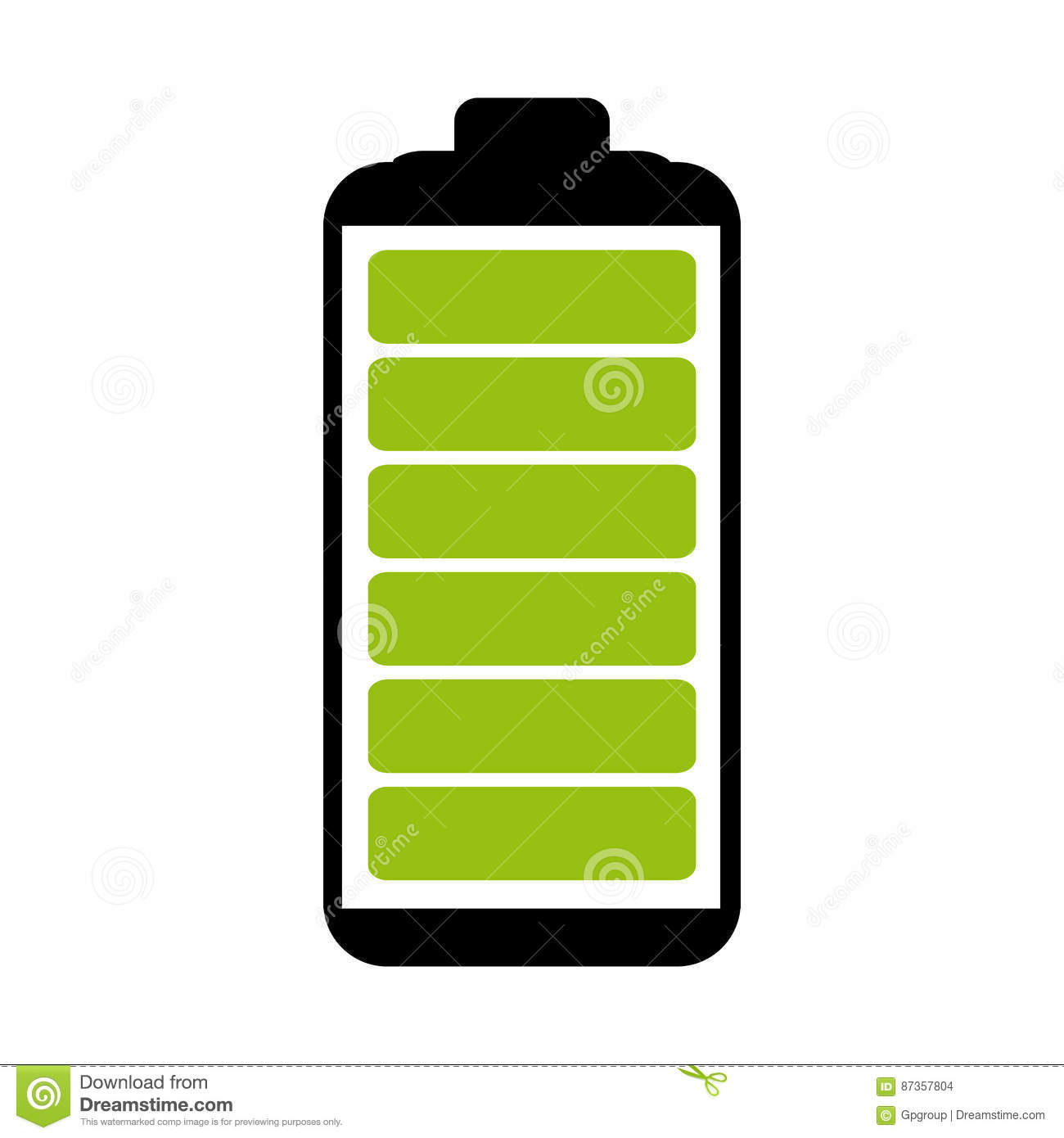 Battery Symbol With Full Charge Stock Illustration Illustration Of