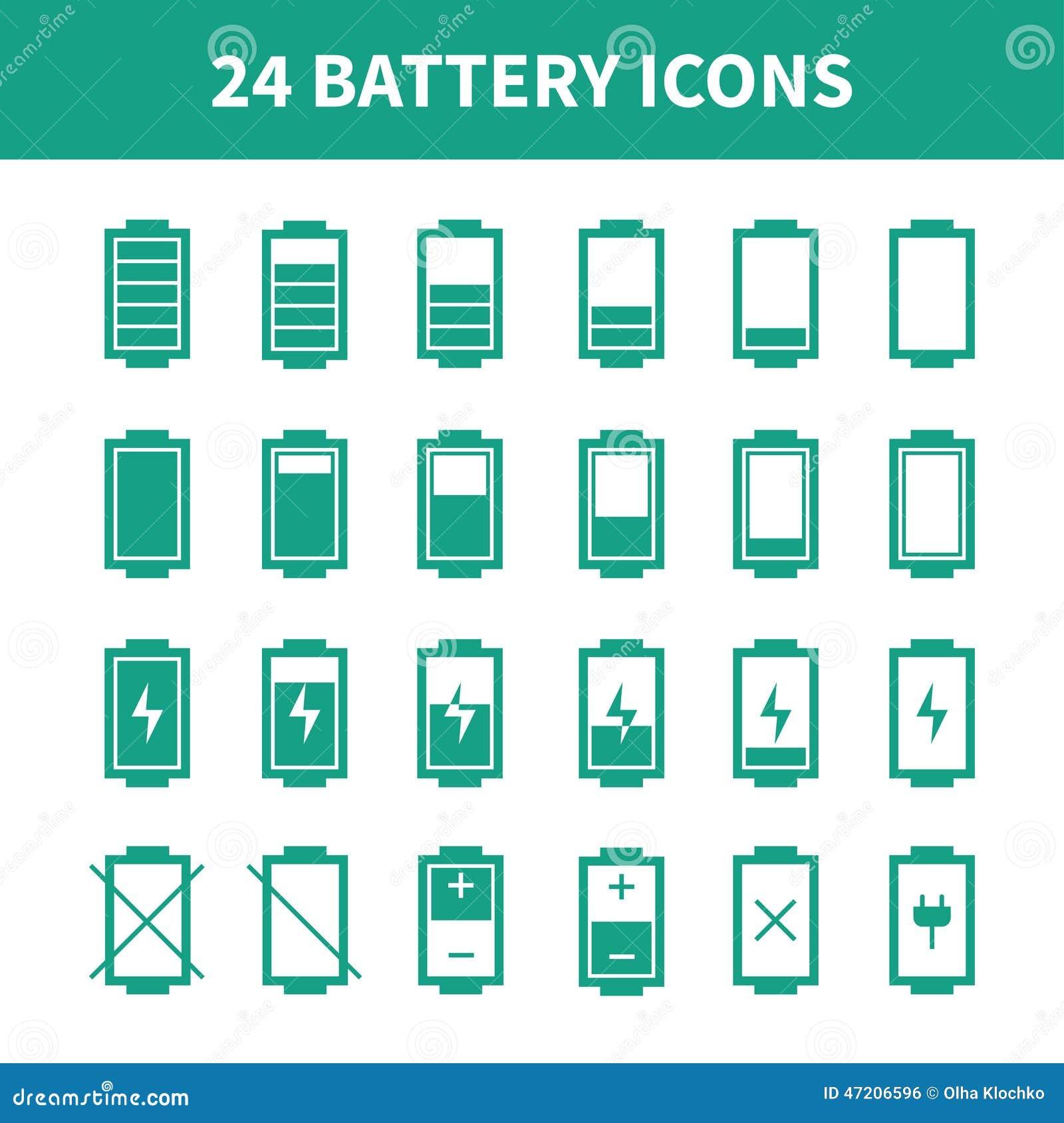 Battery Icon Vector Illustration Indicator Icons Flat