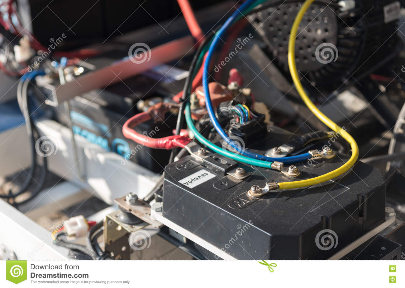 Battery Wiring Of A Car Stock Photo Image Engineering 75811108 Solar Panel Cable Panels In Series