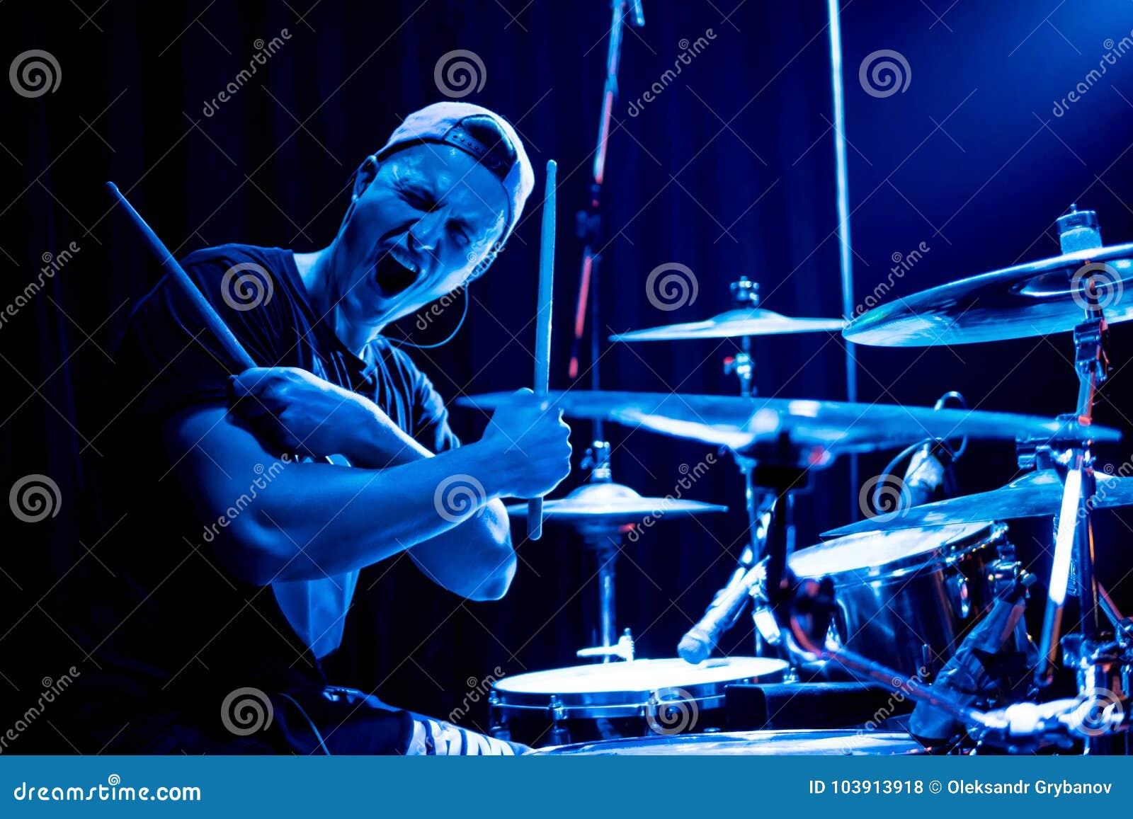 Batteur au concert