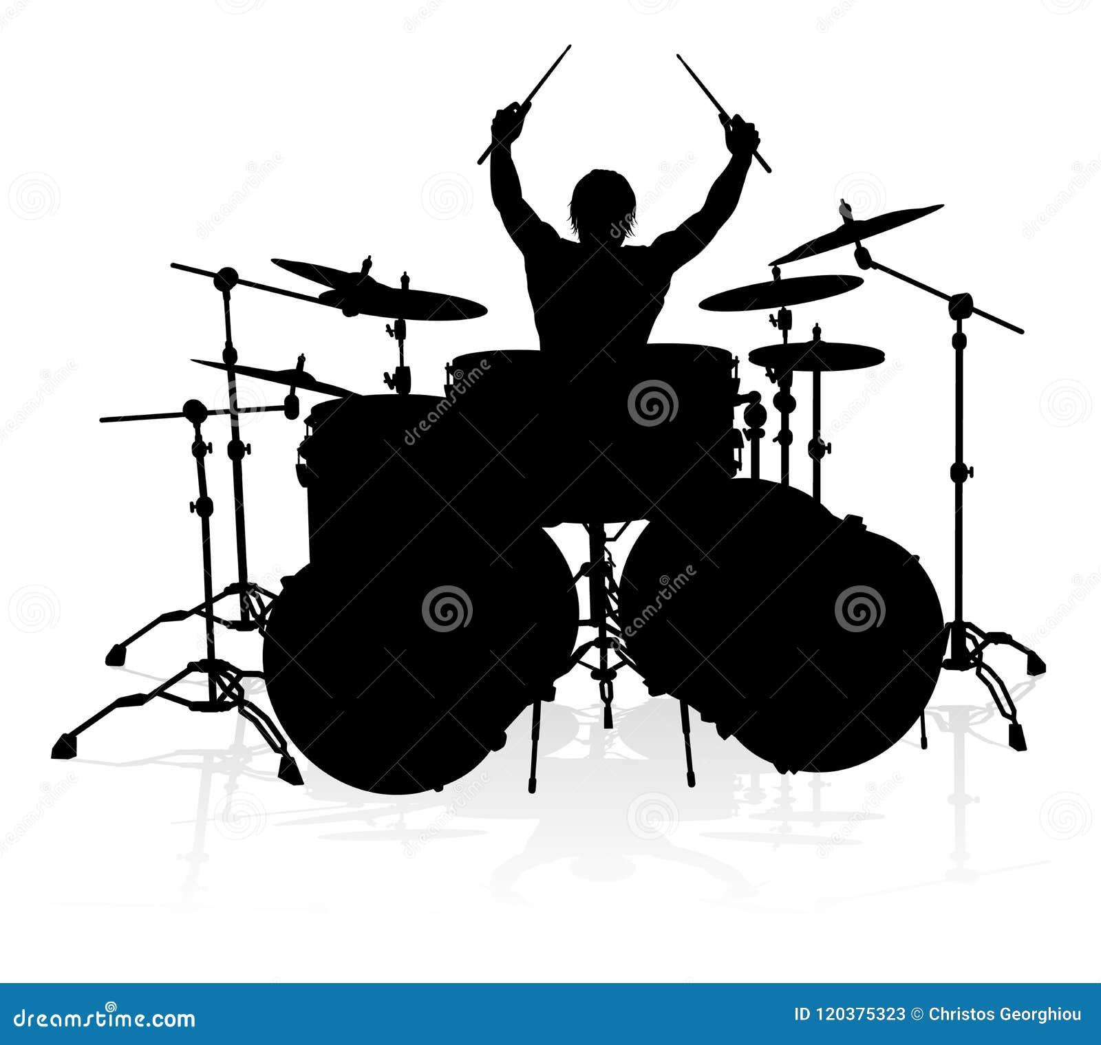 Batteur Silhouette de musicien