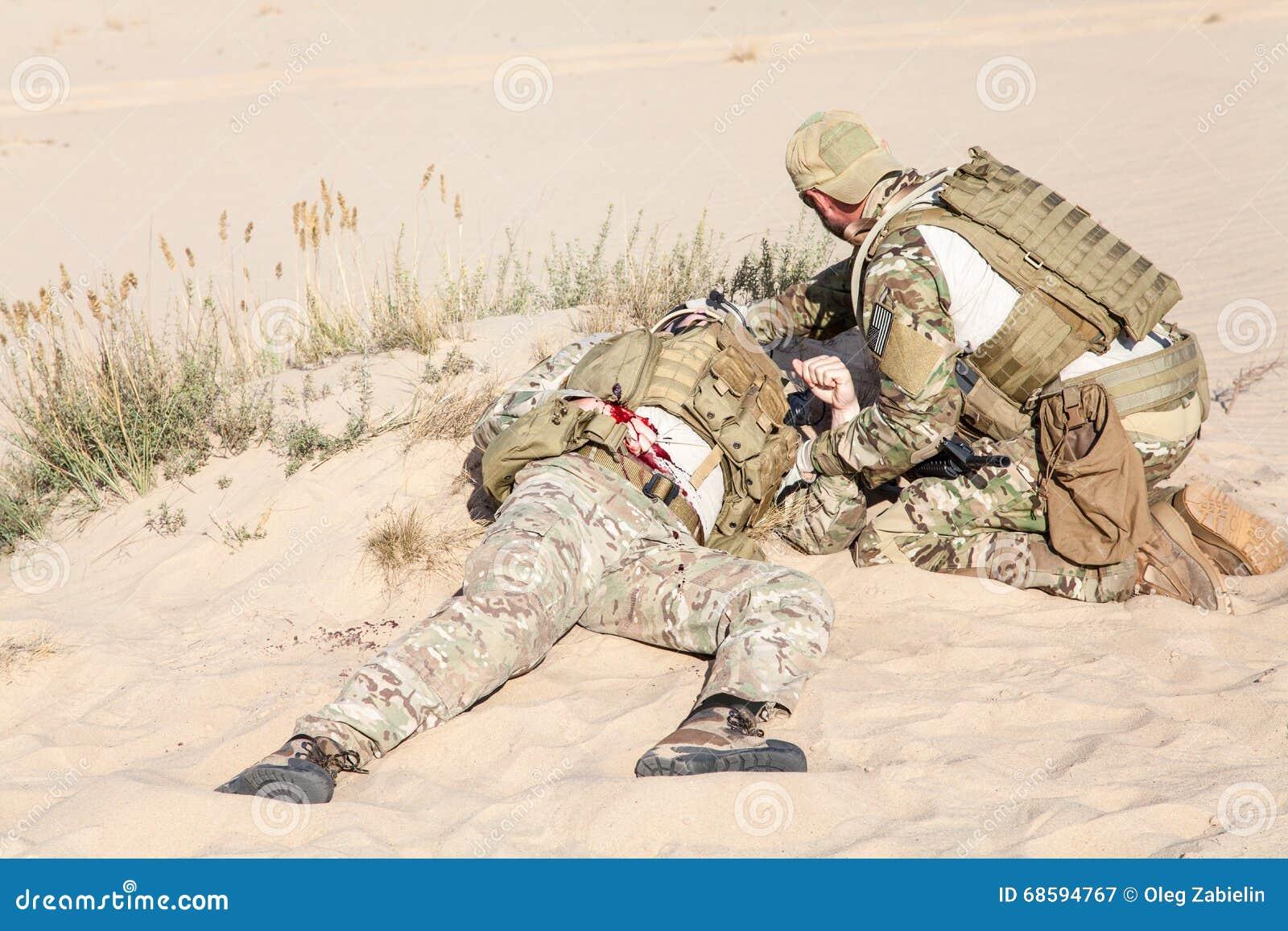 Battlefield Medicine In The Desert Stock Image - Image of