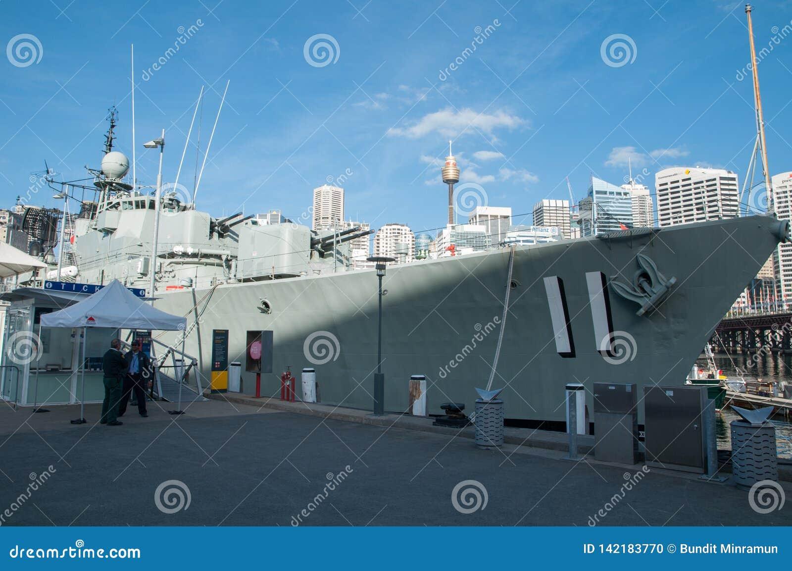 Battleship number 11 is mooring at Australian National Maritime Museum, Darling harbour.