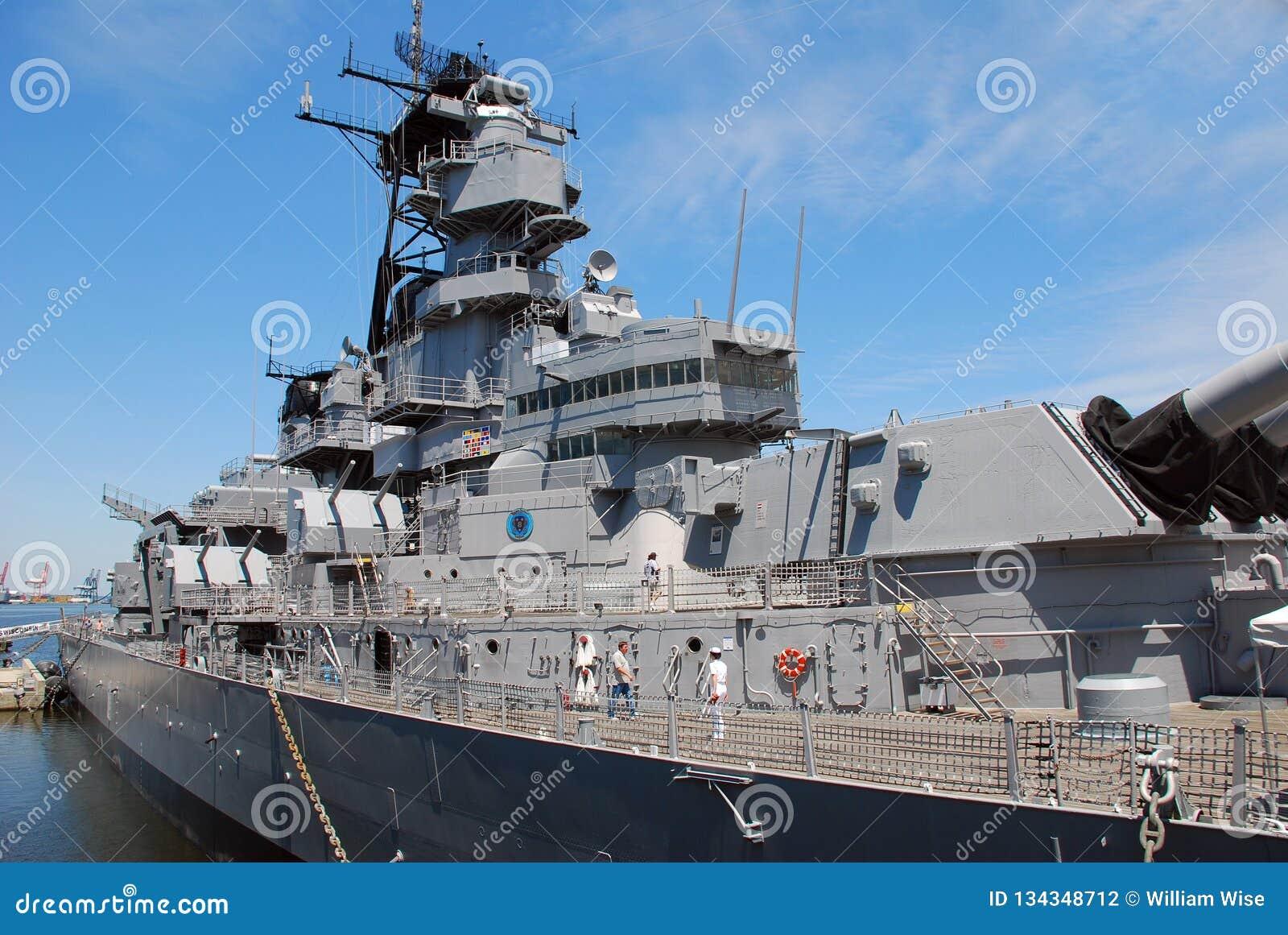 Battleship Wisconsin US Navy Editorial Photography - Image