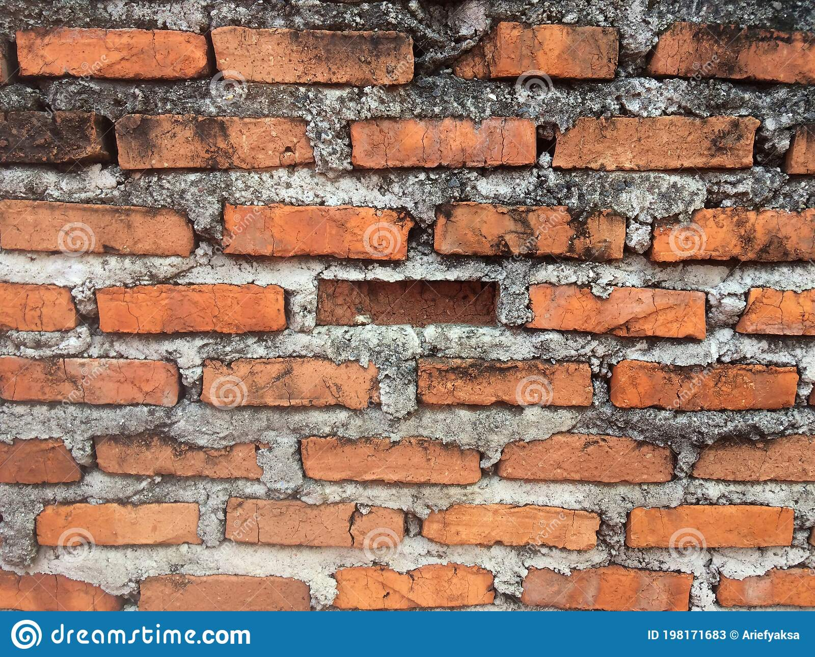 Unfinished Red Brick Wall Or Tembok Bata Merah Batu Bata Wall Stock Image Image Of Brown Material 198171707