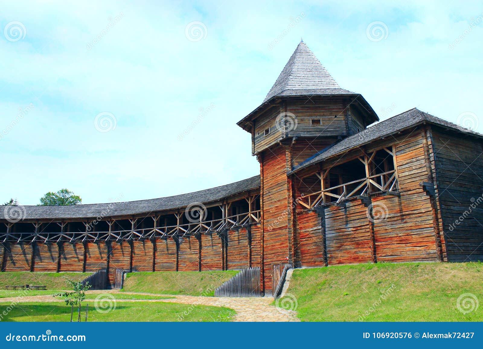 Baturyn Citadel. Ancient Slavonic architecture of fortress