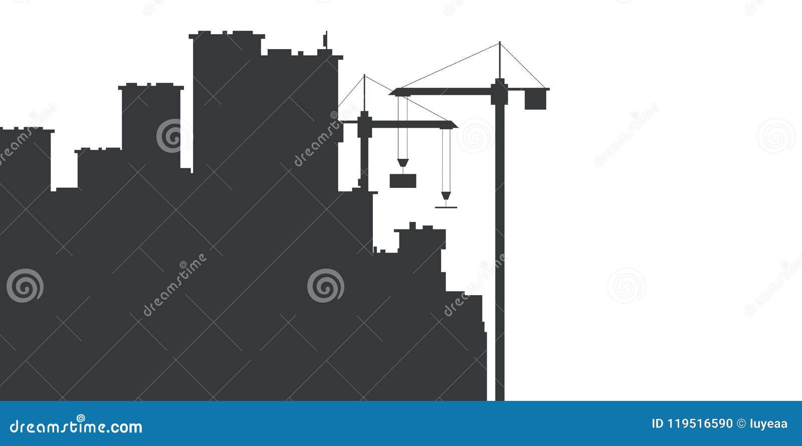 Bau mit Baukränen Auch im corel abgehobenen Betrag