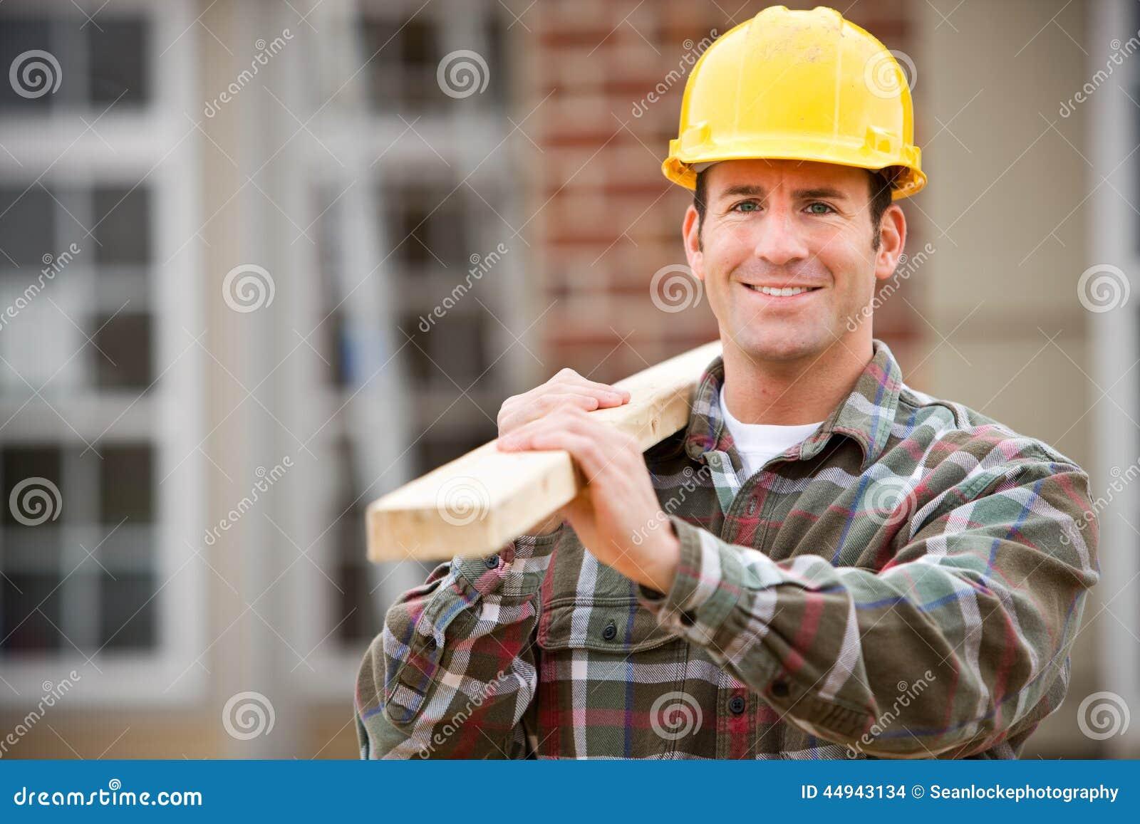 Bau: Netter Bauarbeiter