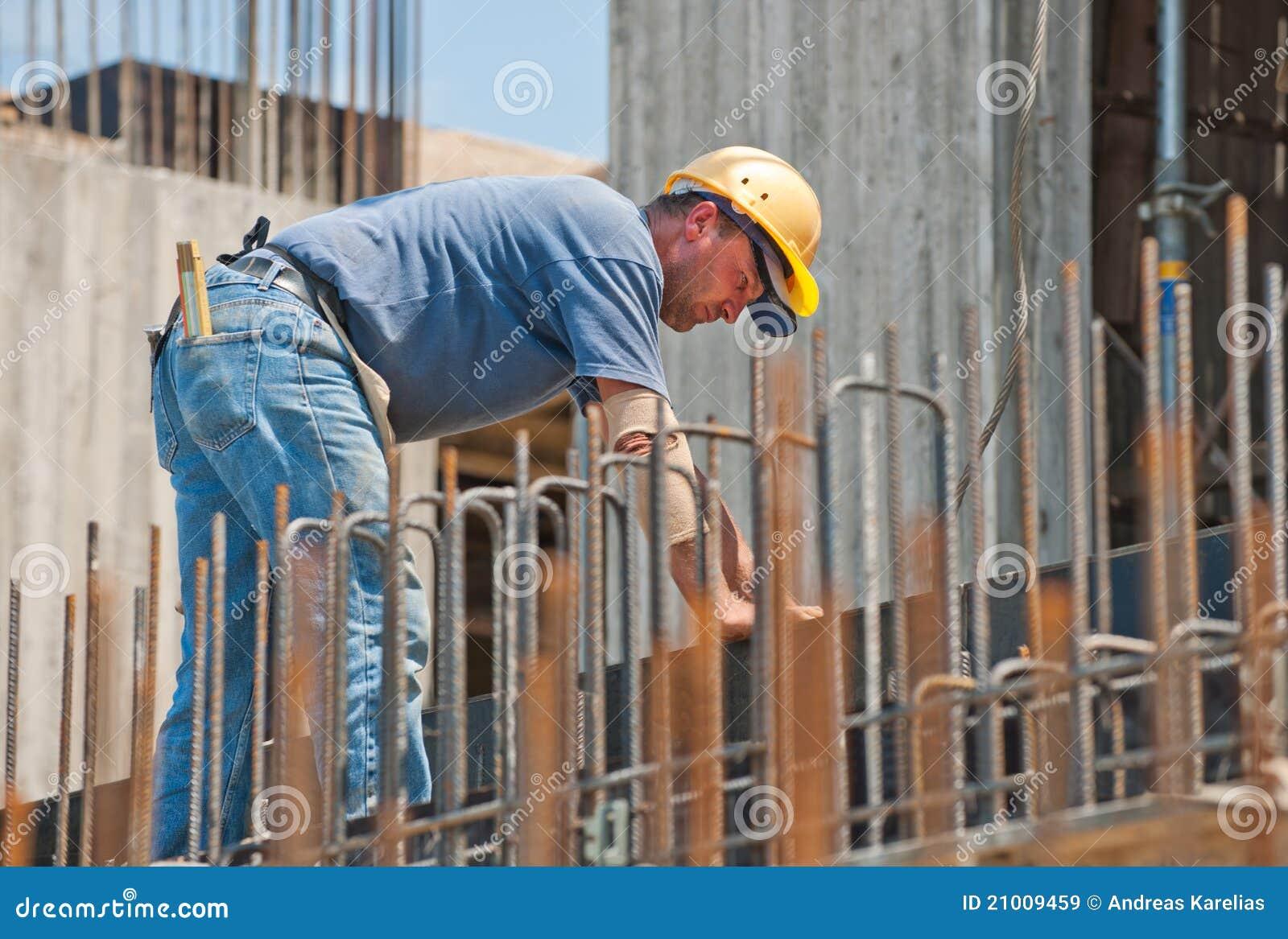 Bauarbeiter besetzt mit forwork Feldern