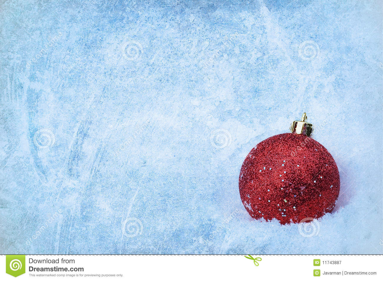 Bauble over grunge texture christmas background royalty