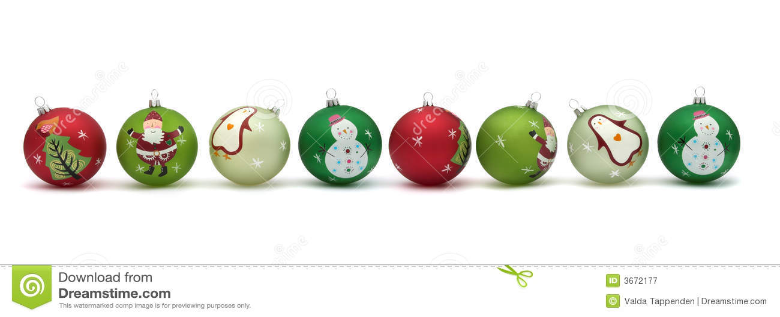Baubles bonitos do Natal