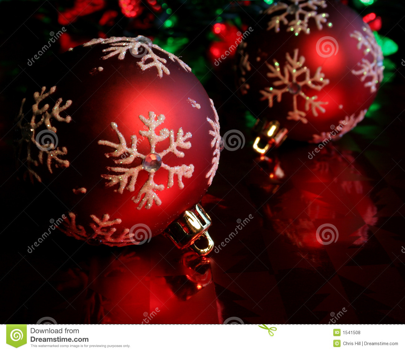 Baubles red snowflake two