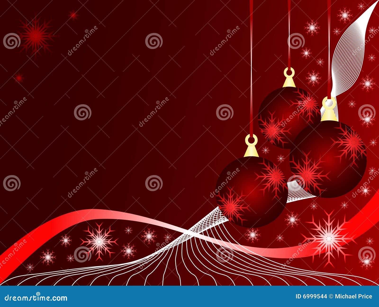 Baubles vermelhos do Natal
