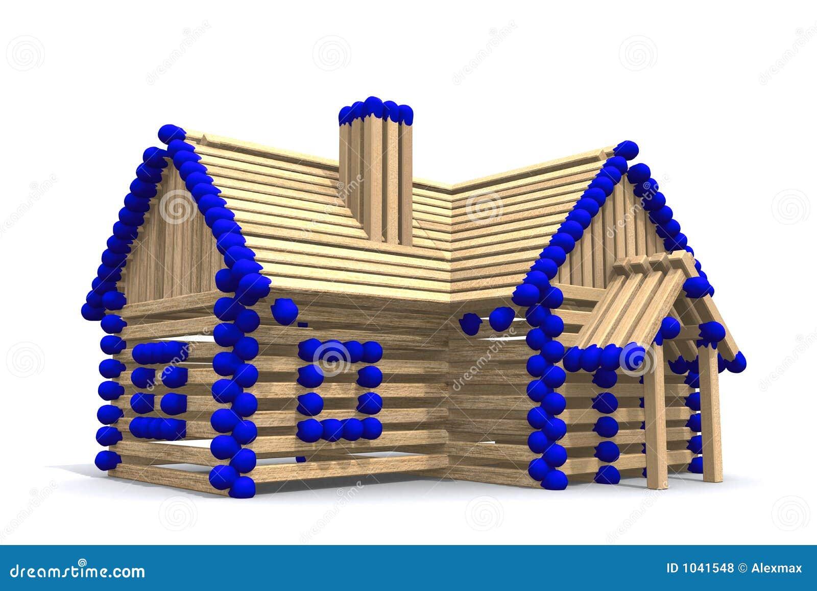bauen sie ihr eigenes haus auf lizenzfreie stockfotos bild 1041548. Black Bedroom Furniture Sets. Home Design Ideas