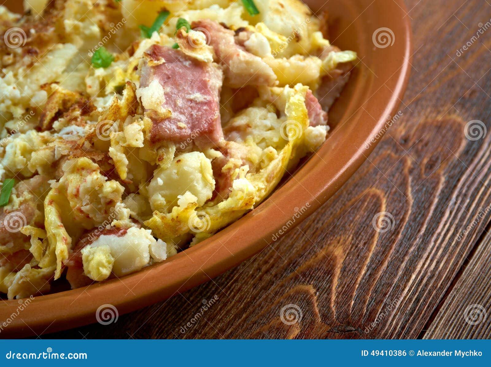 Download Bauernfruhstuck stockfoto. Bild von kartoffeln, speck - 49410386