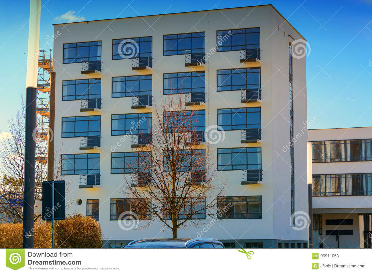 The Bauhaus In Dessau Stock Image Image Of Bauhaus Gropius 96911053