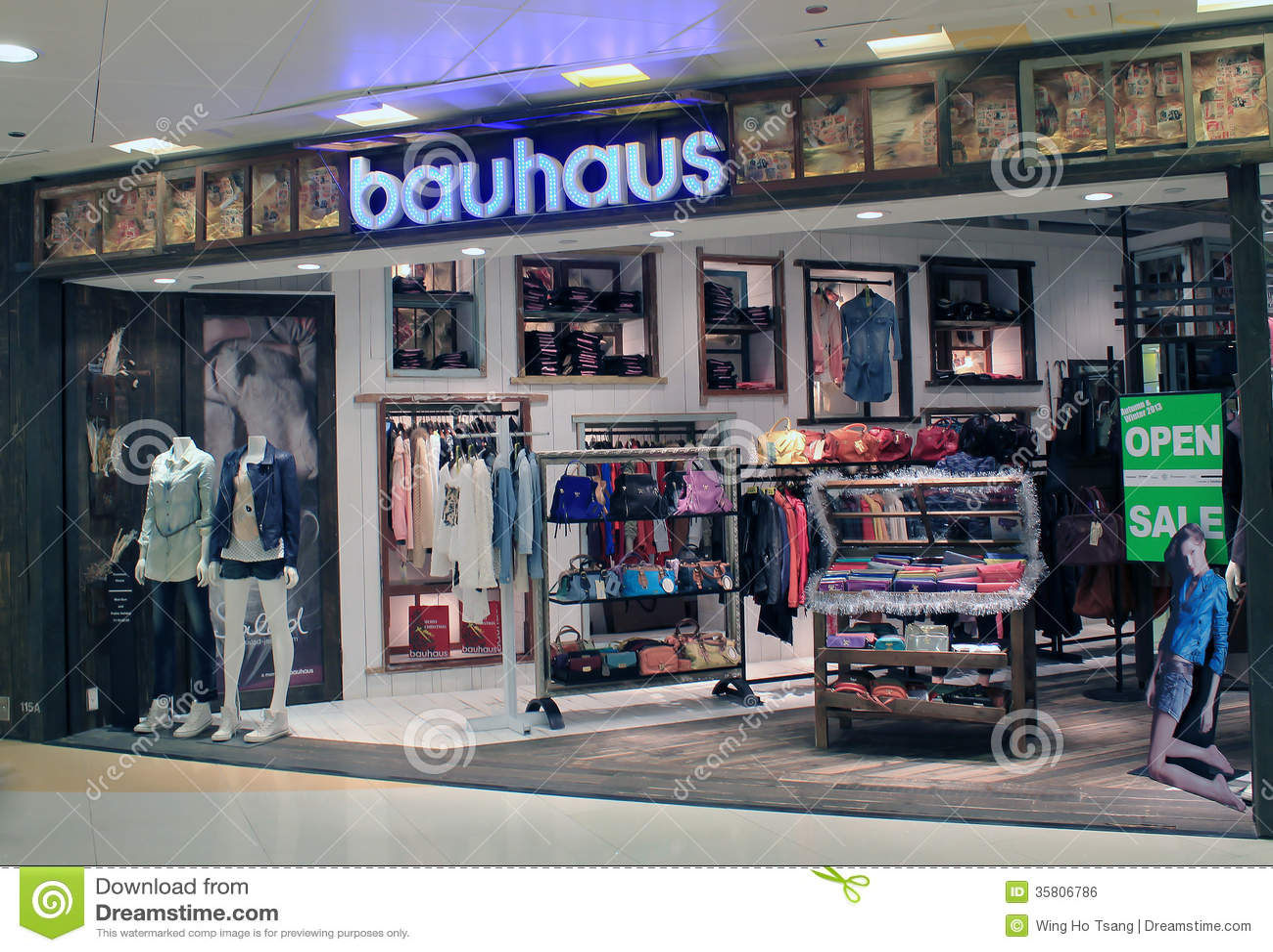 bauhaus shop in hong kong editorial photo image 35806786. Black Bedroom Furniture Sets. Home Design Ideas