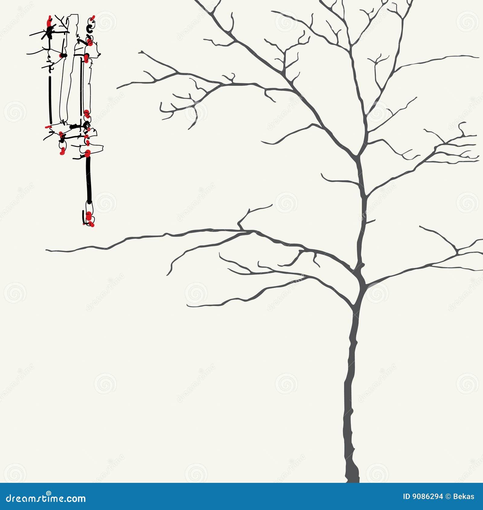 Baum in der japanischen Art