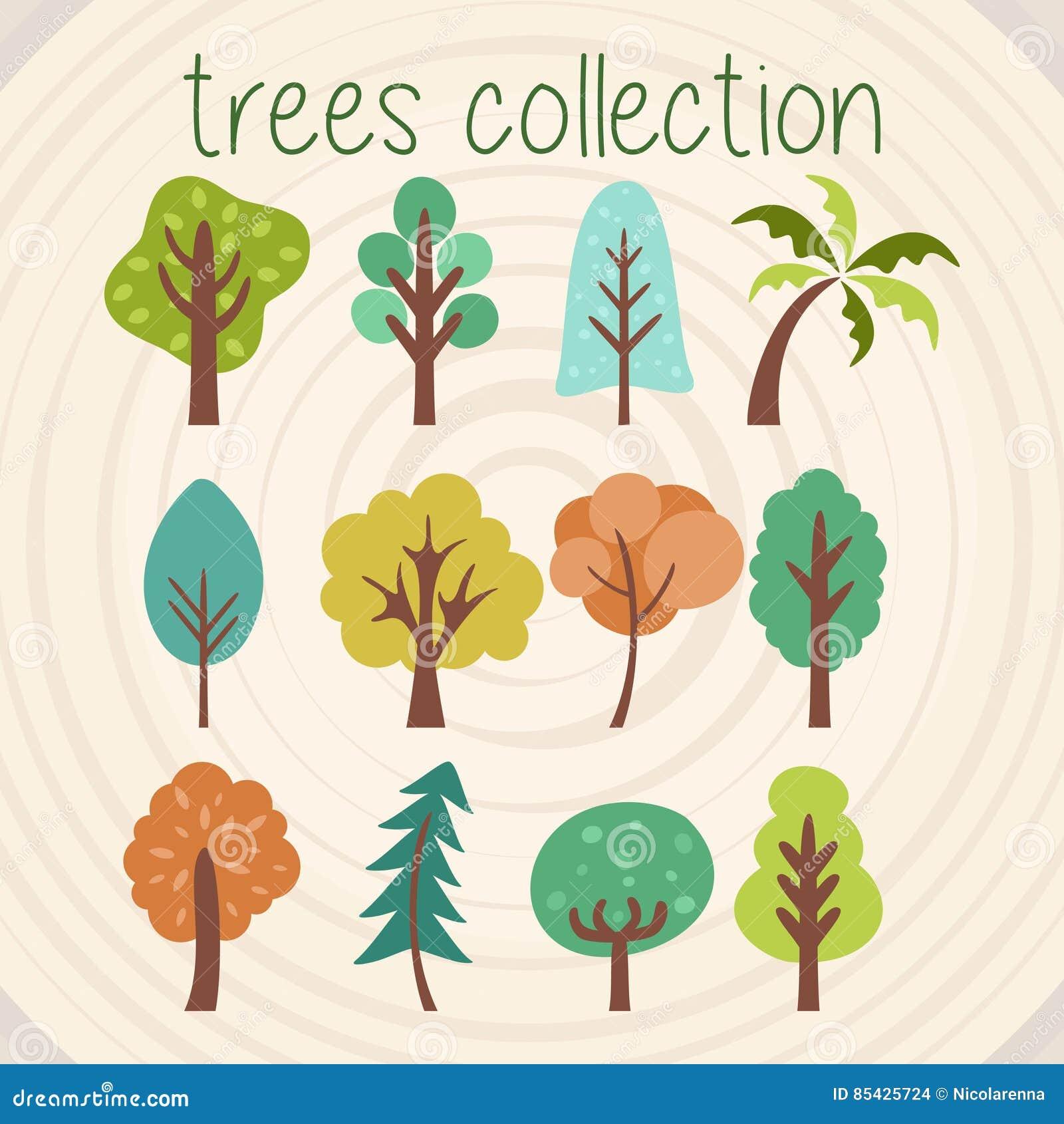 Baum-Farbvektor-Auswahl