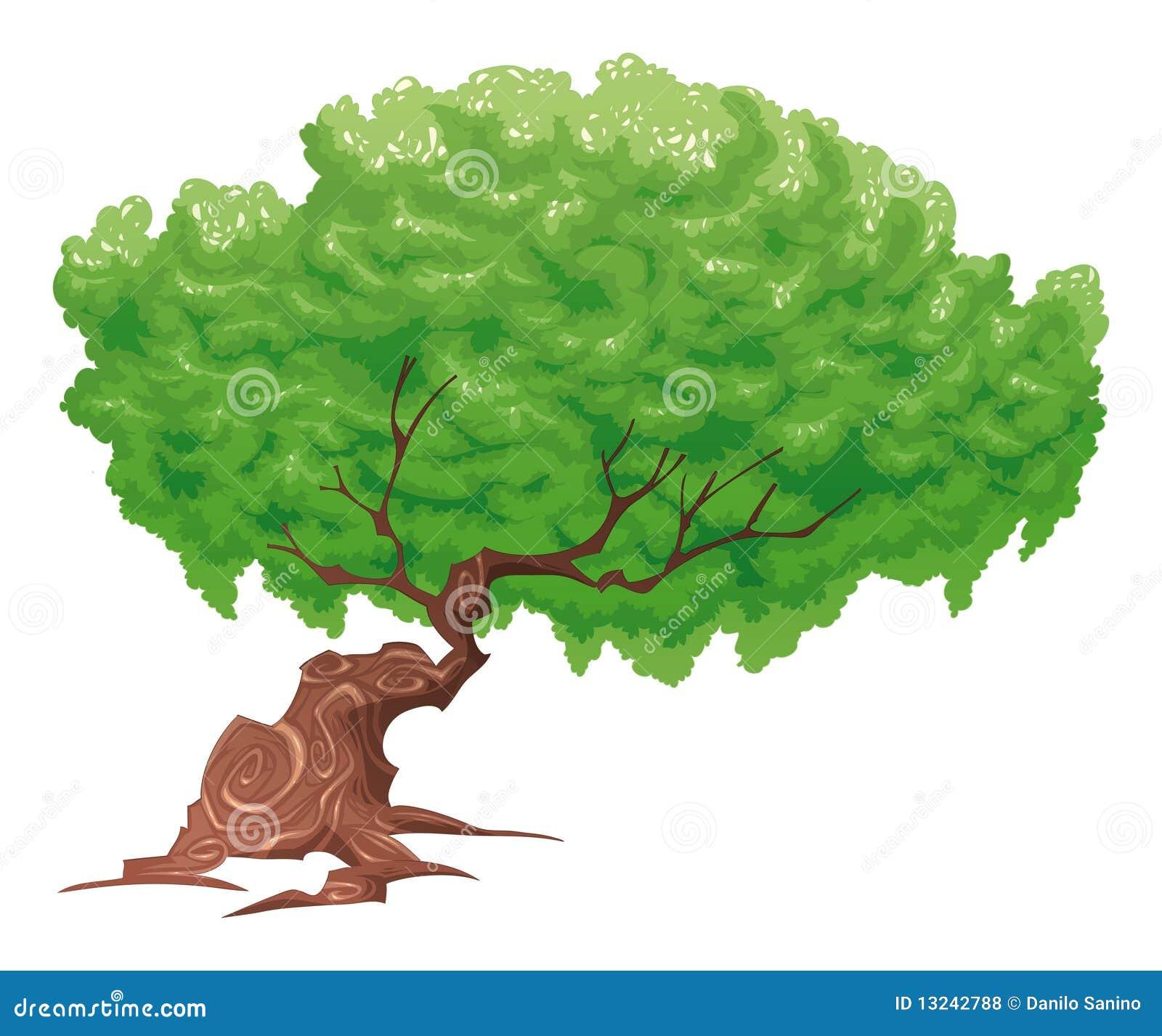 Baum, getrennte Nachricht.