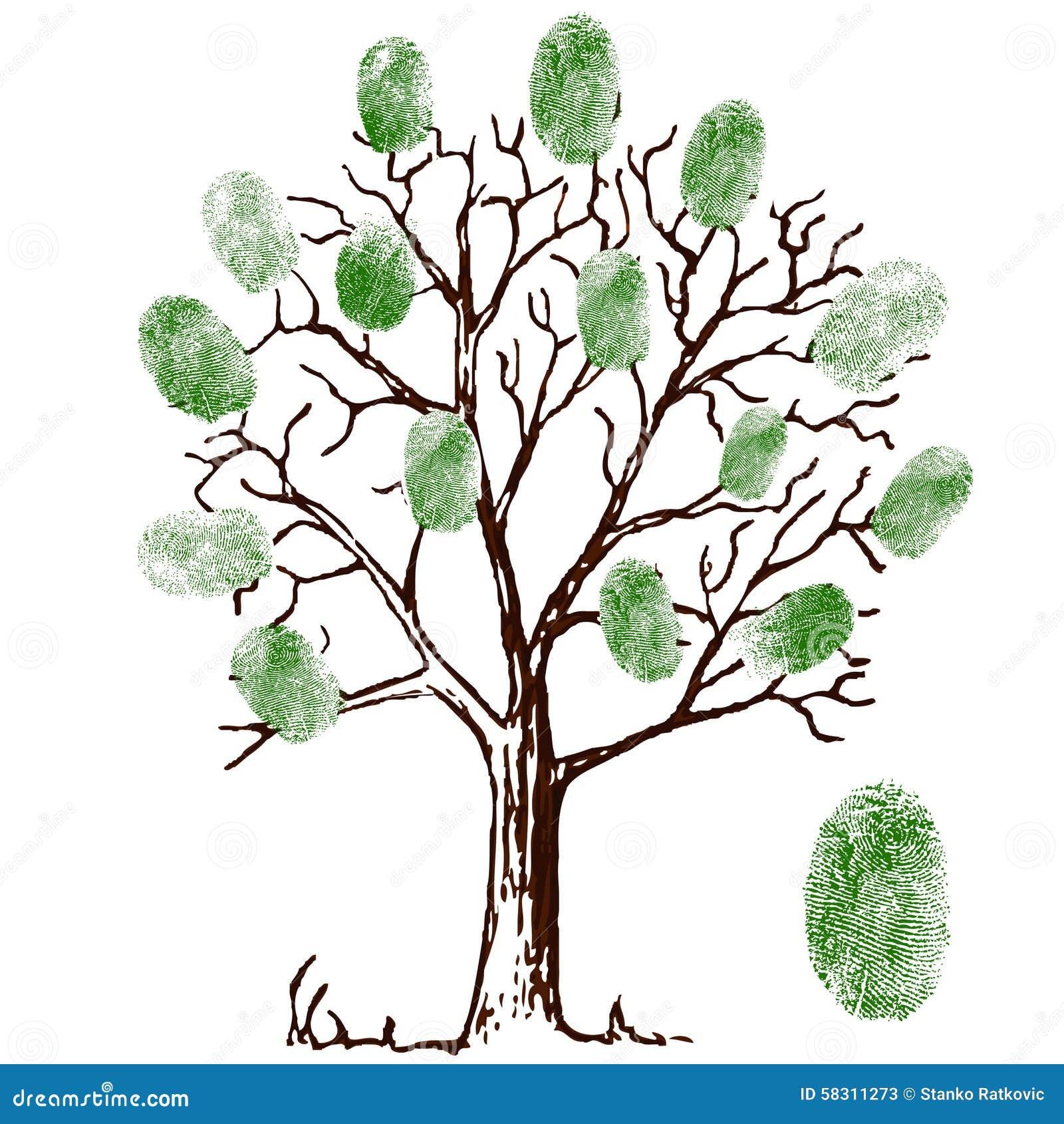 Baum Mit Fingerabdrucken Stock Abbildung Illustration Von Eleganz