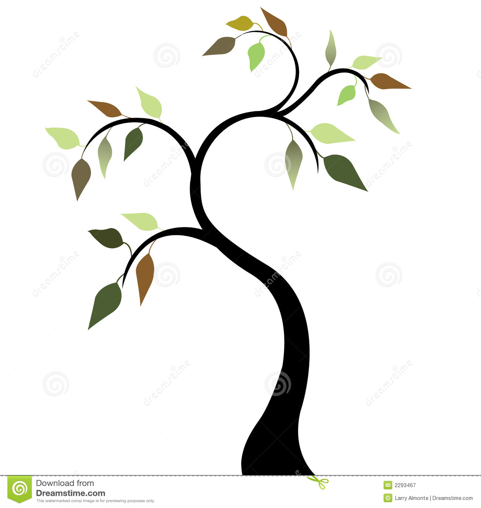 Baum mit Frühlings-Blättern 2