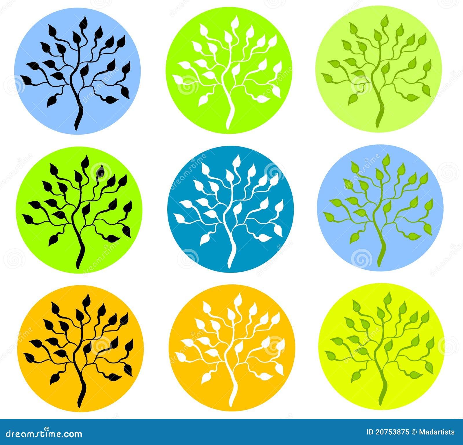 Baum-Schattenbilder