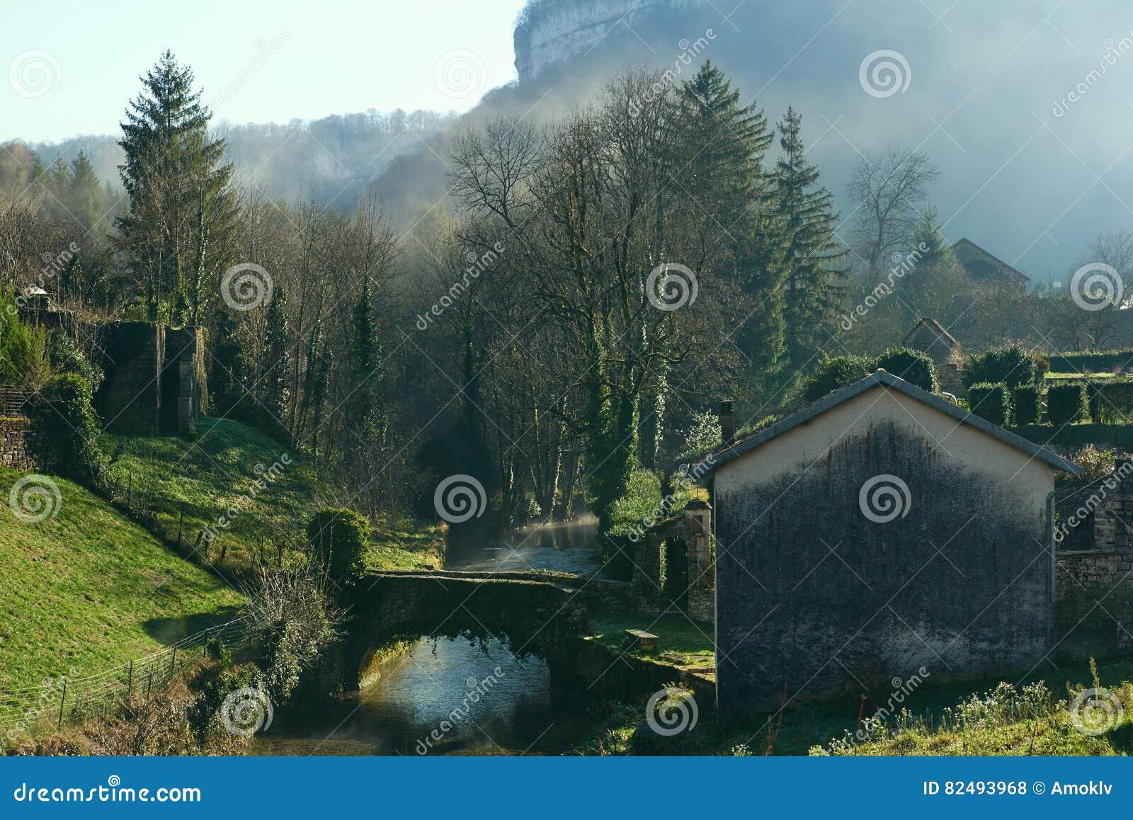 Baume-les-Messieurs village. France