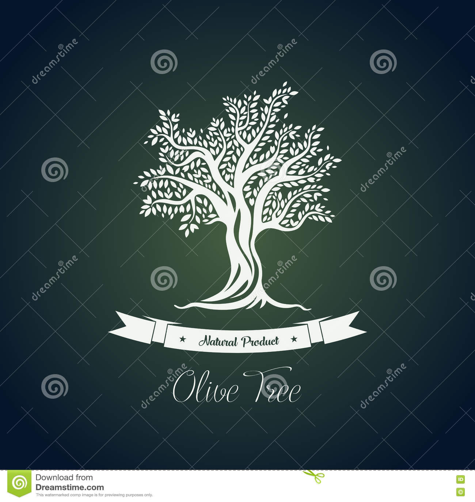 Baumlogo der FruchtNahrungspflanze oder des Olivenöls