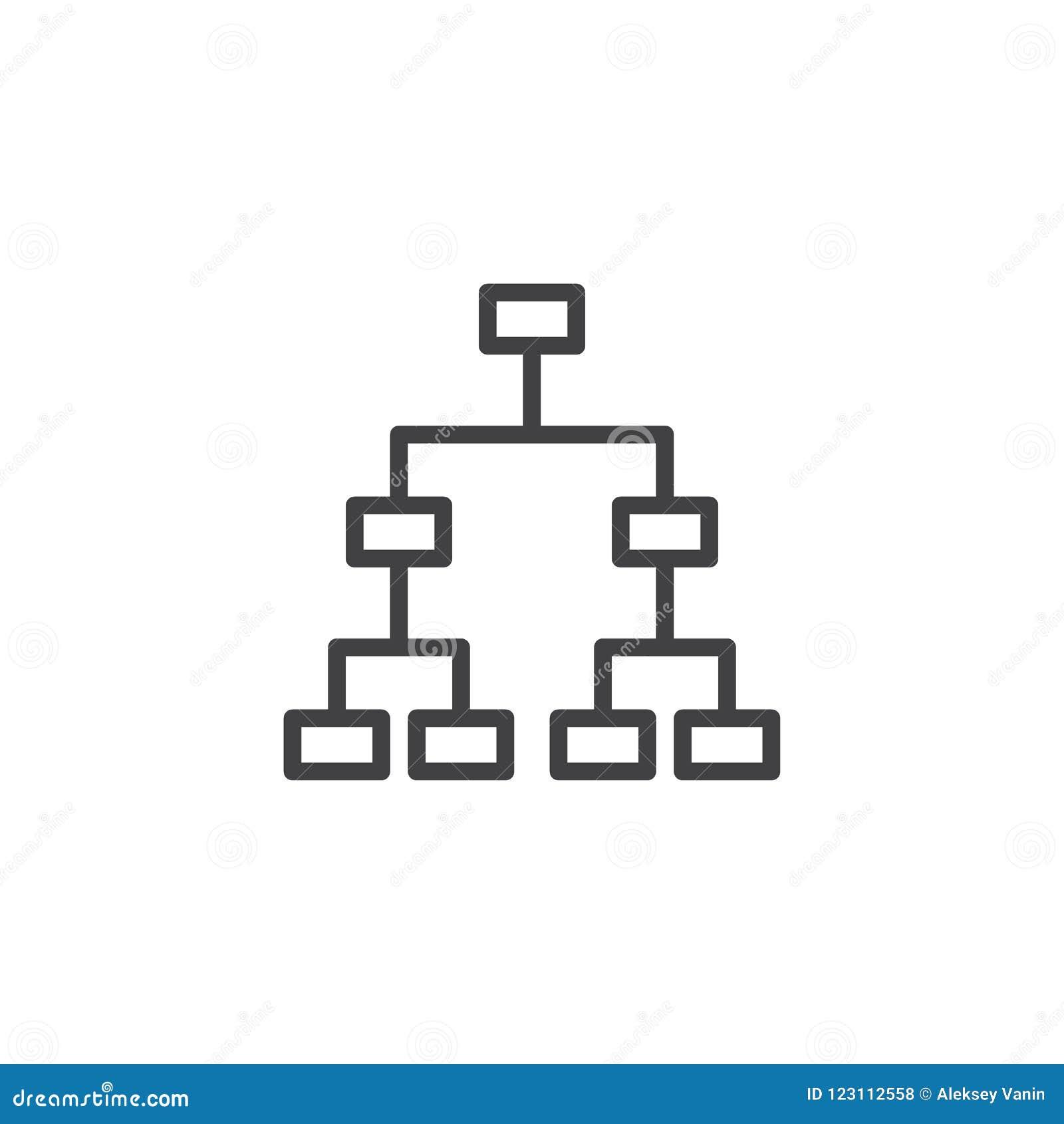 Baumstrukturentwurfsikone