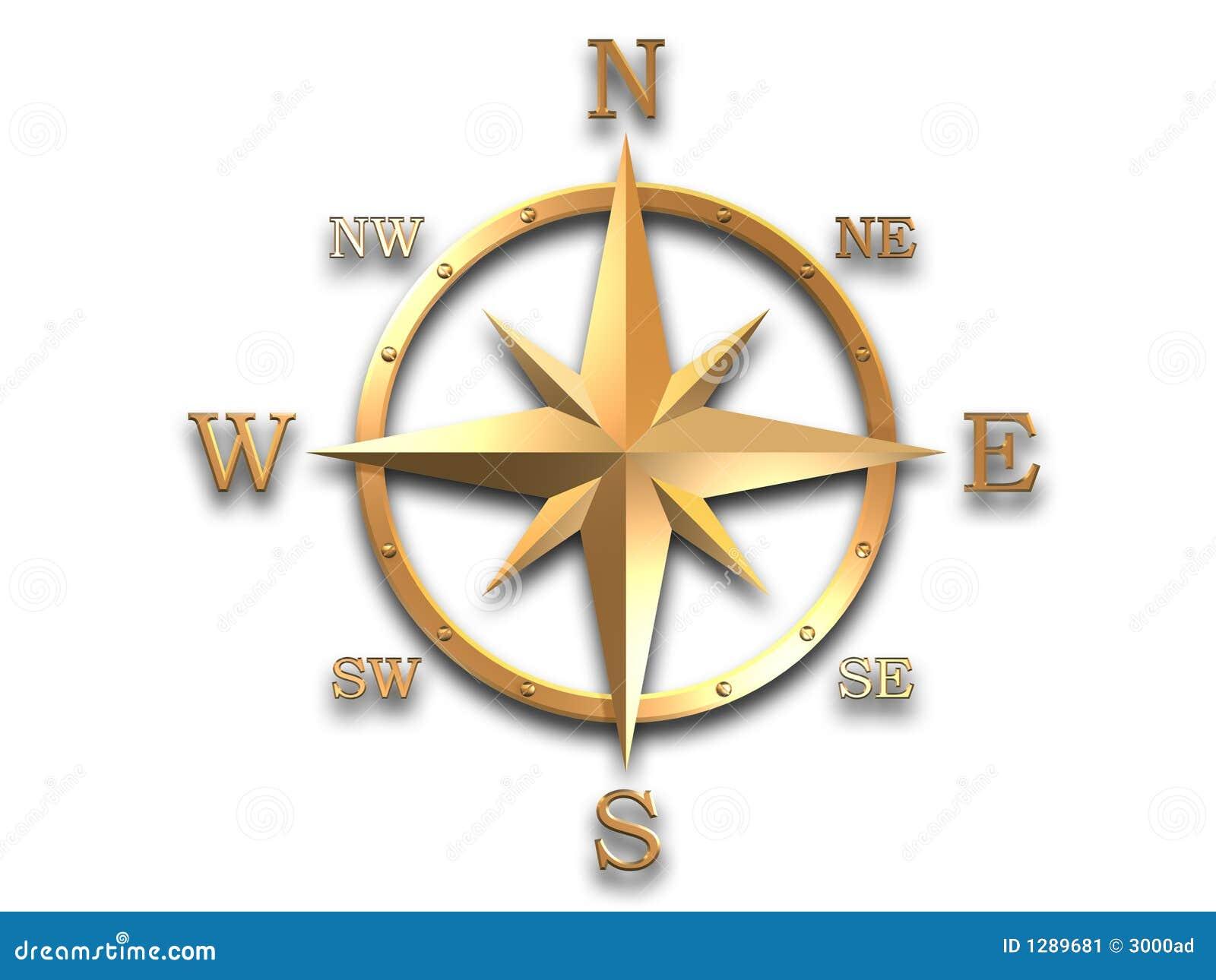 Baumuster 3d des goldenen Kompassses