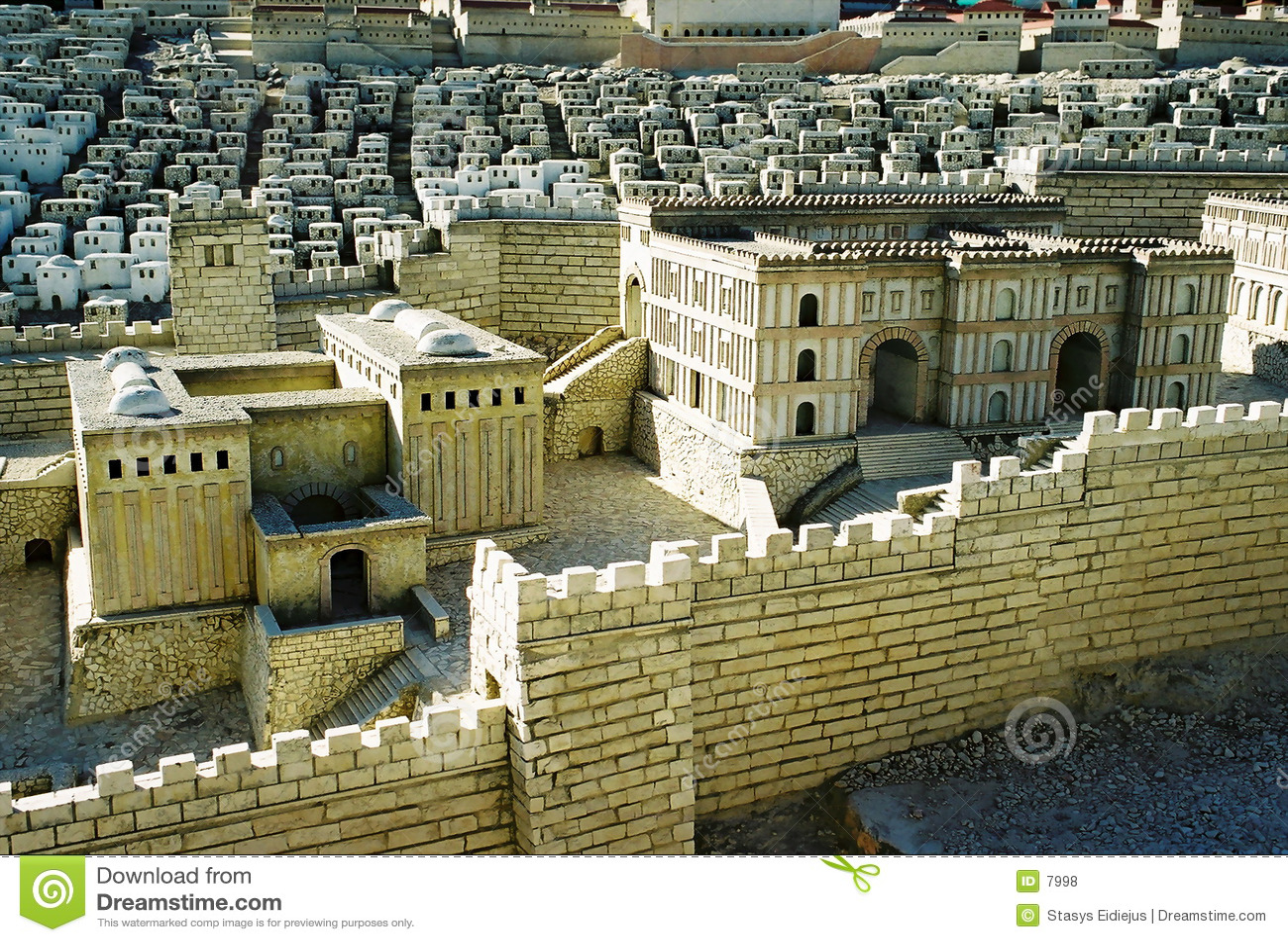 Baumuster der Jerusalem-Stadt