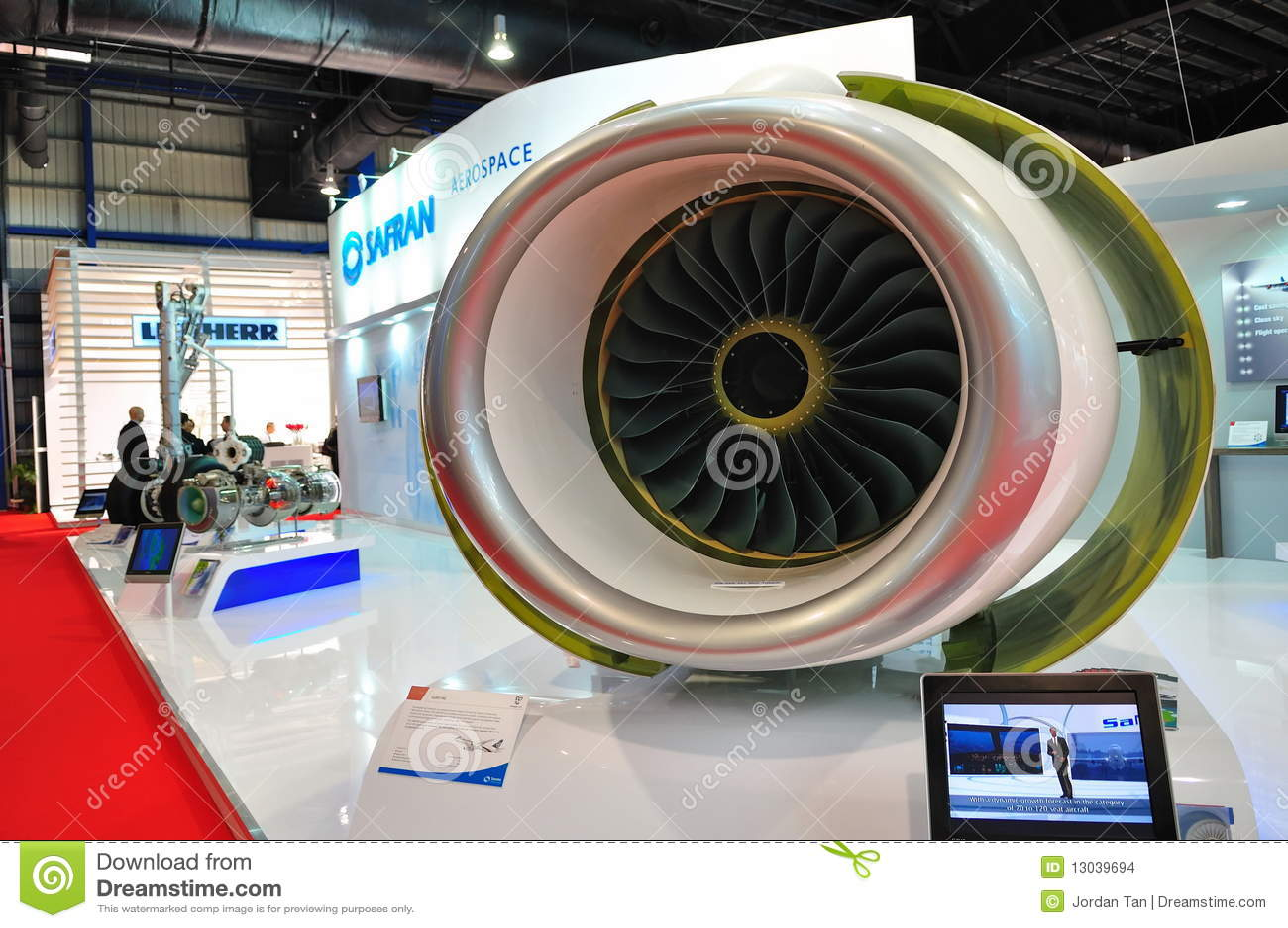 Baumuster des Düsentriebwerks in Singapur Airshow