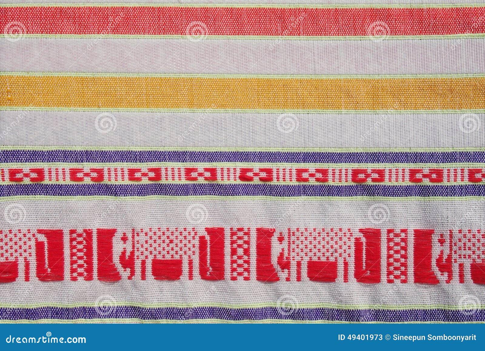 Download Baumwollstreifengewebe Thailands Lokale Stockbild - Bild von baumwolle, streifen: 49401973