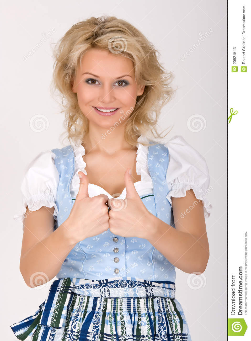 bavarian dirndl dress blonde stock image image of finger human 20921543