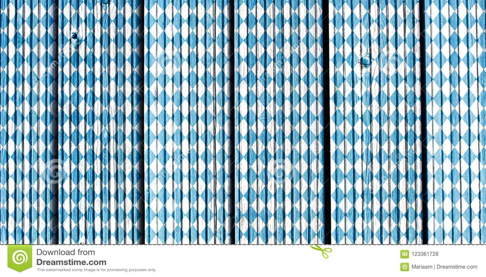 Bavarian flag pattern. Traditional texture. Oktoberfest background.